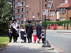 Hasidic Jews in Hackney