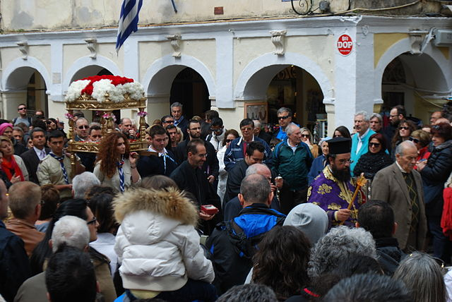 Religious procession in Corfu